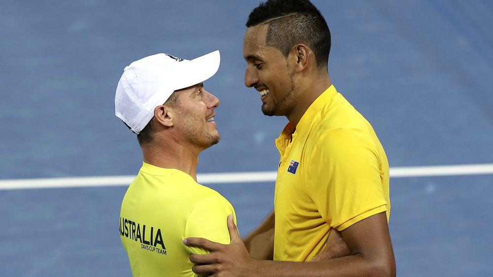 Davis Cup captain Lleyton Hewitt backs Nick Kyrgios to beat US