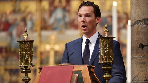 Benedict Cumberbatch gave a reading at the service. Picture: Getty