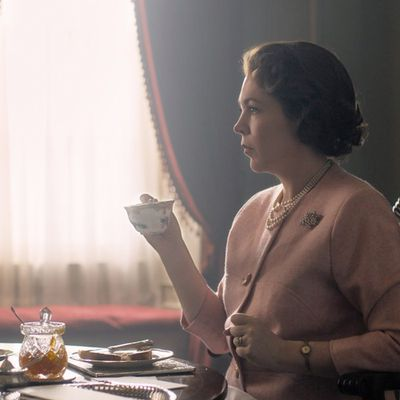 Queen Elizabeth II played by Olivia Colman