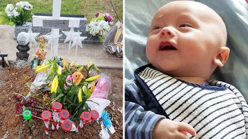 Baby Trent Stephenson's family have been ordered to remove decorations from his grave.