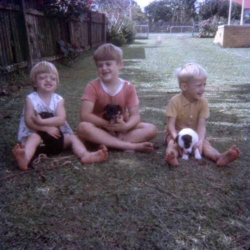 Jenny and her brothers when they were younger.