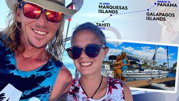 Jake Shepherd and Tamara Ilic are trying to cross the Pacific Ocean to make it home to Australia.