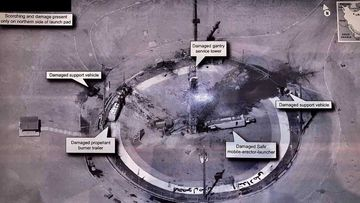 The explosion at the Khomeini Space Centre appeared to have taken place during refuelling.