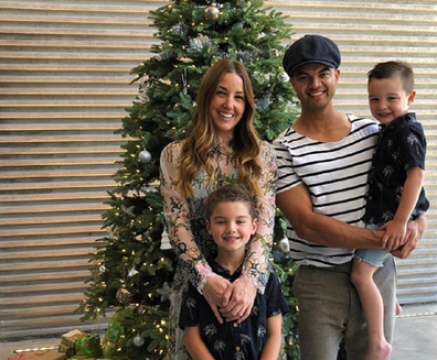 Guy Sebastian with his wife Jules and sons Hudson and Archer.