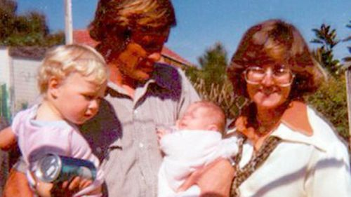 Chris Dawson, his wife Lyn and their two children.