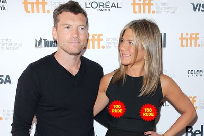 Even Jen's co-star Sam Worthington's too embarrased to peek! And he's dating Insta-exhabitionist Lara Bingle.<br/><br/>Flick through for the Tinseltowners who got our tick of approval in Toronto...