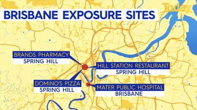 Contact tracers are tracking exposure sites after four new cases were detected in Queensland.