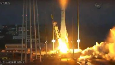 NASA teams are working to secure the site and retrieve data from the launch.