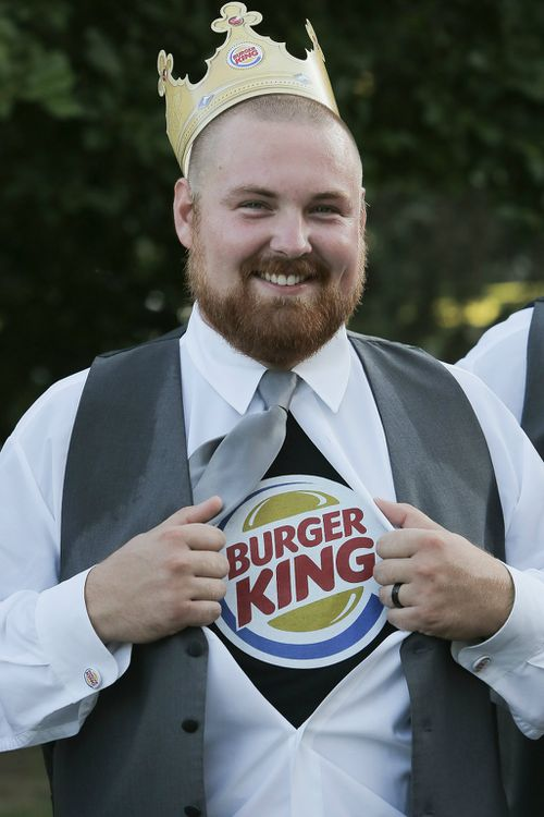 Mr Burger reveals what's closest to his heart. (Getty)