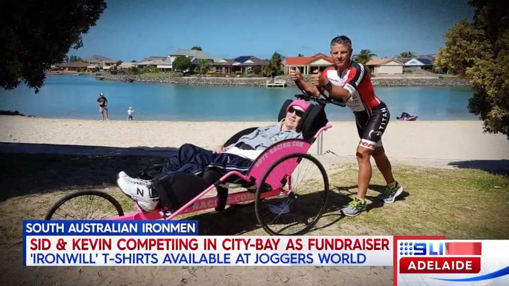 Quadriplegic trains for Iron Man swim