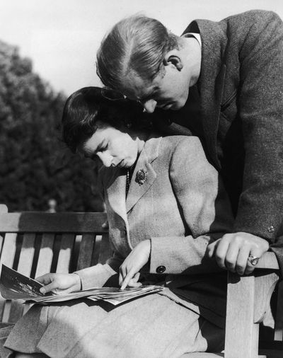 <p>Then-Princess Elizabeth with new husband Prince Charles</p>