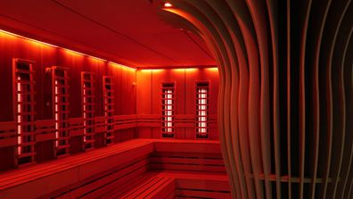 A sauna room at the Thermae spa in Bath
