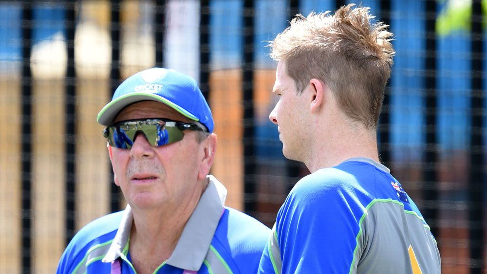 Rod Marsh with Steve Smith. (AAP)