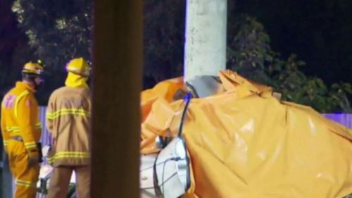 Emergency services attended the crash in Geelong earlier today. (9NEWS)