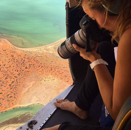 Hulia Boz says it took time to transition from celebrity photography to aerial shots. (Supplied)