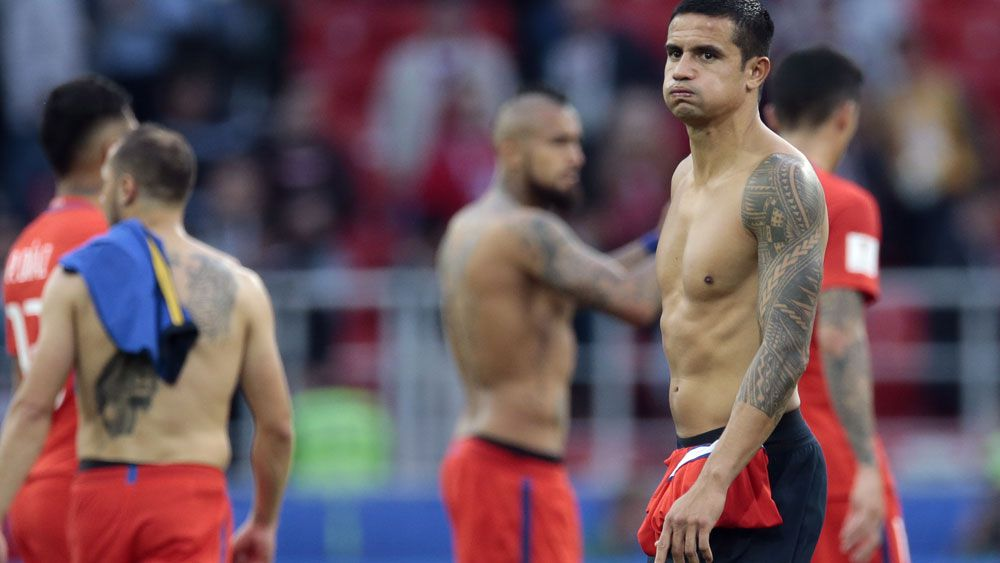 Tim Cahill and the Socceroos were labelled 'overweight' by ex-FIFA boss Sepp Blatter. (AAP)