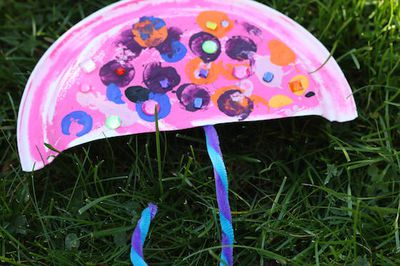 <p><strong>Paper plate umbrella ...</strong></p> <p>Pretty self explanatory - cut your paper plate in half, bend a pipe cleaner into handle and glue on back of plate. Decorate!</p>