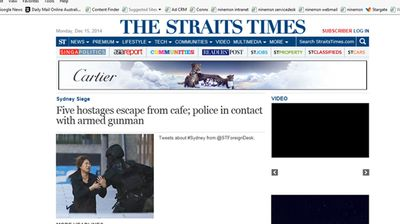 An image from The Straits Times  home page.