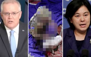 Chinese official says Australia 'should be ashamed' after Scott Morrison demands apology for 'repugnant' fake photo