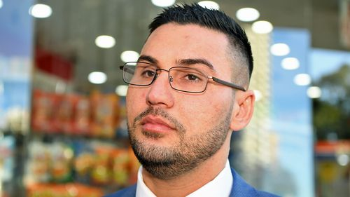 Salim Mehajer during a break at the Downing Centre Local Courts in Sydney, Friday, June 22, 2018.