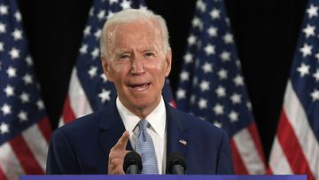 Democratic presidential candidate, former Vice President Joe Biden speaks during an event in Dover, Del., Friday, June 5, 2020.