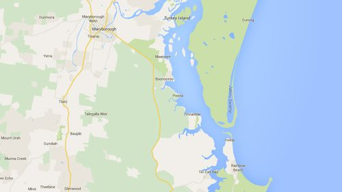 Poona is located near Maryborough on the Fraser Coast. (Google)