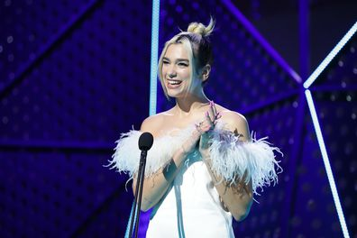 Dua Lipa presents the ARIA Award for Album of The Year during the 33rd Annual ARIA Awards 2019 at The Star on November 27, 2019