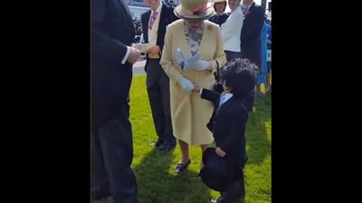 """<p>An Emirati toddler has delighted the internet after cheekily walking up to the Queen of England at a racing carnival and shaking her hand.</p><p>  Mohammed bin Ahmed Jaber Al Harbi approached the Queen at the Epsom Derby on Saturday, melting hearts around the world by doffing his top hat and introducing himself. </p><p>  Unused to such a brazen breach of royal protocol the Queen had no choice but to accept the boy's handshake, as dappily-dressed onlookers looked on stunned. </p><p>  Mission complete, the boy quickly turns and grins at the camera as he walks away. </p><p>  The encounter was filmed by Mohammed's father's friend, Sheik Hamdan Al Maktoum. </p><p>  """"Nothing defines respect better than a proper handshake!"""" Al Maktoum captioned the video, which was shared with his two million Instagram followers. </p><p></p>"""