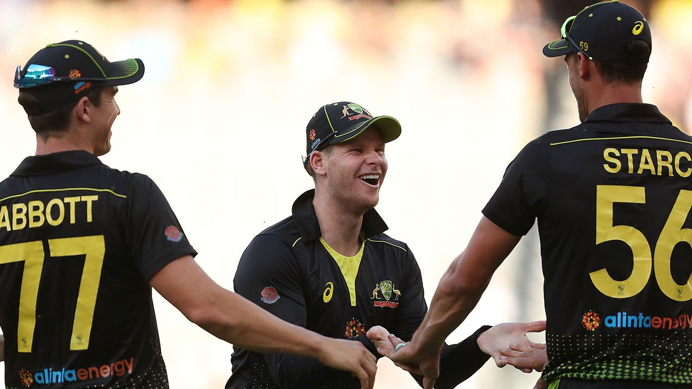 Sean Abbott, Steve Smith & Mitchell Starc