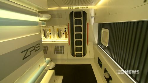 The out-of-this-world set is currently located in a Balwyn North garage. (9NEWS)