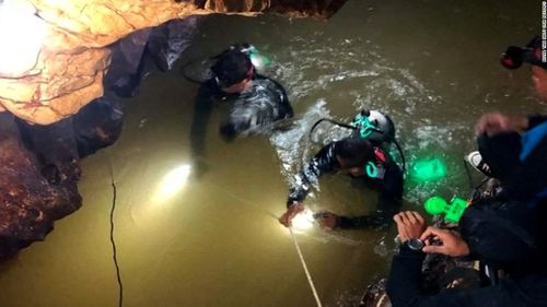 Highly trained divers were working in tough conditions inside the cave.