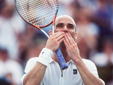 Andre Agassi pictured at the men's final of Wimbledon 1999.