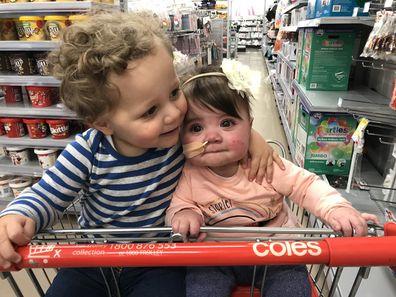 Heart siblings at shops