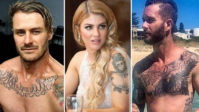 MAFS Chris Booka Jake Edwards Tattoos