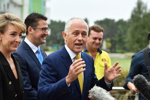 The Prime Minister speaking at a press conference in