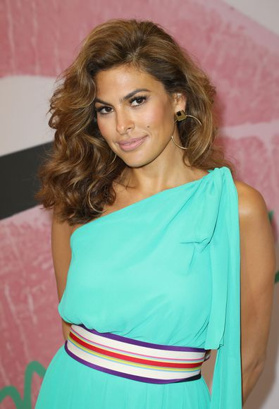 Eva Mendes is seen celebrating the New York & Company store opening at Dadeland Mall in Miami on March 16, 2017 in Miami, Florida.