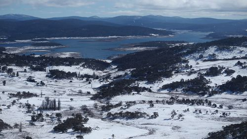 An aerial view of Snowy Mountains region.