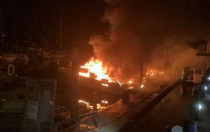 Five boats set alight at Gold Coast marina