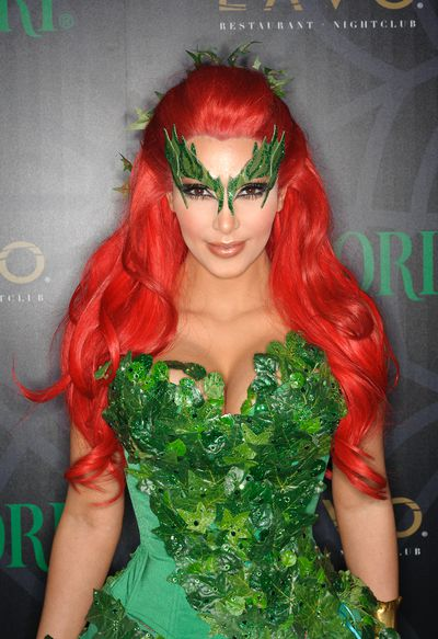 Kim Kardashian does Poison Ivy.