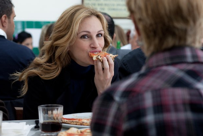 After a painful divorce Liz Gilbert (Julia Roberts) goes on a world journey of self-discovery involving an exotic fling and some sexy dnner dates. Oh and did we mention the food in the Italian part of the film is almost as delicious as the landscape... the men too!<br/><br/>(Image: CTMG)
