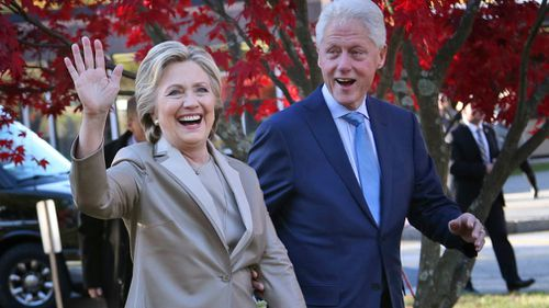 A suspicious package was sent to Hillary and Bill Clinton's New York home