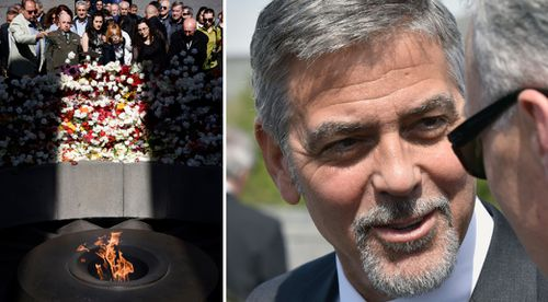 George Clooney among attendees of Armenian genocide commemorations in Yerevan