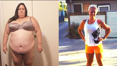 Elle Goodall, who has lost 115kg, shared her journey on Weekend TODAY. (Supplied)