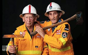 Firefighter duo honoured after seven decades protecting homes
