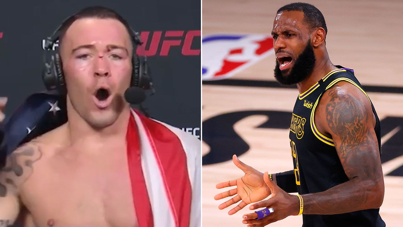 UFC star Colby Covington takes another swipe at 'spineless' Lakers star LeBron James