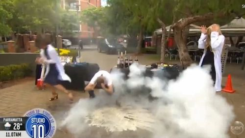 "Jacob Strickling assured viewers the experiement was ""safe"". (Image: Network Ten)"