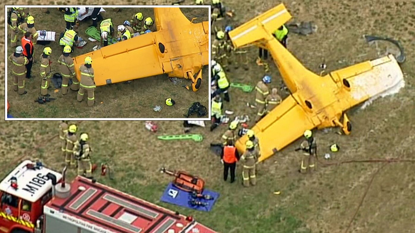 Pilot rushed to hospital after aircraft lands upside down