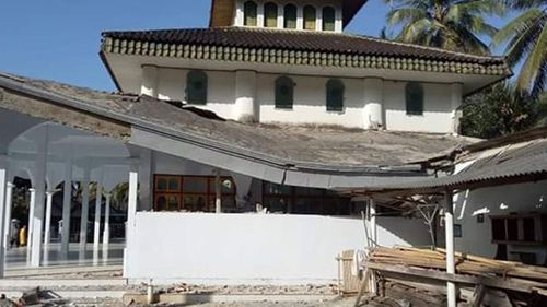 The earthquake caused the roof of this school to collapse.