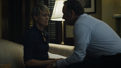 Claire and Frank Underwood end season one completely united in doing political deeds.