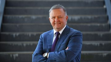 Shadow Minister for Infrastructure Anthony Albanese poses for a portrait after a press conference at Narangba train station,north of Brisbane today. Picture: AAP